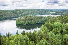 Hämeen parhaat nähtävyydet Näitä Aulangolta avautuvia hämäläisiä maisemia Sibelius mietti Finlandiaa säveltäessään.
