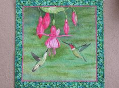 - Winged Visitors, painted whole cloth with hummingbirds appliqued by K.S. Allbee