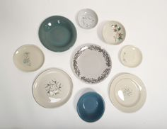 UrbanDISH Plates on Wall Home Decor Collage Blue by OrdinaryURBAN, $85.00