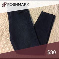 Dark Blue Skinny Jeans Dark blue cropped skinny jeans from Stitch-fix - never worn Just Black (Stitchfix) Jeans Skinny