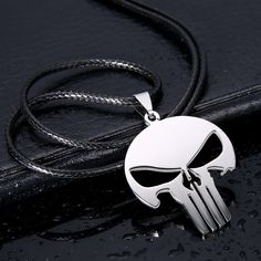 【 $0.59 & Free Shipping 】Men Jewelry Skull Pendant 316L Stainless Steel Necklaces Pendants Leather Chain Skull | worth buying on AliExpress