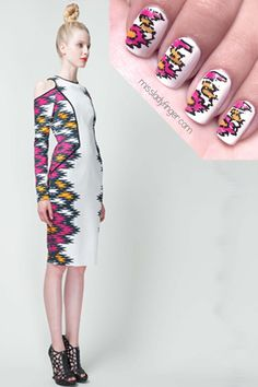 Try these modern ethic prints on for size: Bibhu Mohapatra Resort '13 @MissLadyfinger #nailinspiration