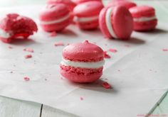 French Macarons with Marshmallow Frosting