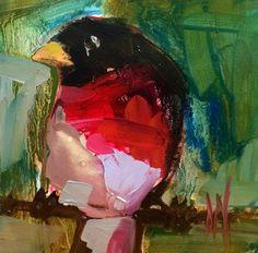Rose Breasted Grosbeak Bird Art Print by Angela Moulton