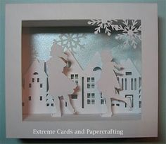Extreme Cards and Papercrafting: Skaters and Houses Shadow Box Card