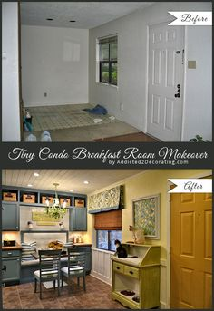 My Tiny Condo Breakfast Room Makeover – Before and After  This is the best before and after I've ever seen!