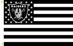 Cheer on your favorite team with this Raiders Stars and Stripes Premium Team Football Flag! Let everyone know that you're a Raiders Fan!   Product Features:  Brand-new, Packed in OPP Bag, Unopened & Unused High quality, durable and light weight polyester 90x150cm, 3x5ft, 36x60in white sleeve with 2 Brass Grommets to Attach to Flagpole, double stitched edges for durability Digital Print, for indoor and outdoor use  Get Your Very Own Raiders Stars and Stripes Premium Team Football Flag Tod...