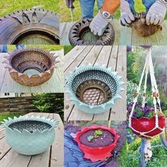 How to DIY Recycled Tire Flower Planter