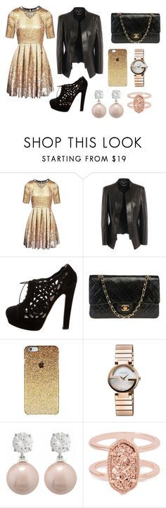 """Tento outfit je na akce ( třeba na pracovní večírky , atd ..... )"" by deni-loveclothers on Polyvore featuring Matthew Williamson, Alexander McQueen, Valentino, Chanel, Gucci, Jankuo and Kendra Scott"