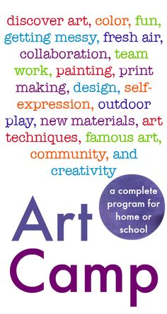 Art Camp :: how to run a messy, creative, outdoor art camp :: summer camp activities :: kids art