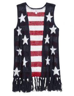 Patriotic Fringe Vest