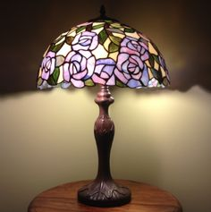 New England Tiffany Lights Table Lamp Height 24 inch 61cm Diameter 16 inch 40cm Max Wattage 2 x 60w Material of shade Glass Socket E27 Bulb not