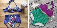 A Round-Up of Summery Closet Case Patterns that have been shared on social media. Swimsuits, Bikinis, Swimwear, Swimsuit Pattern, Summer Patterns, Sew, Swimming, Inspired, Closet
