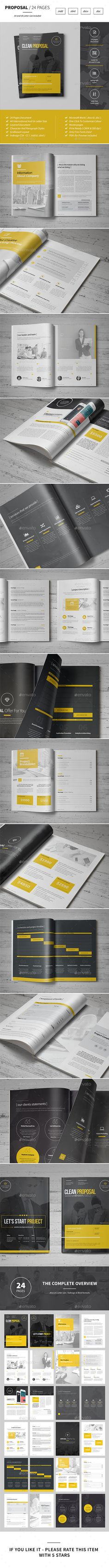 Proposal 25 pages Template InDesign INDD #design Download: http://graphicriver.net/item/proposal/14455728?ref=ksioks
