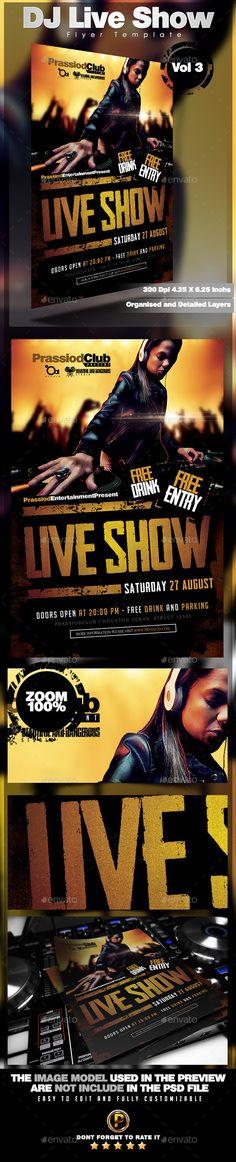DJ Live Show Flyer Template Vol 3