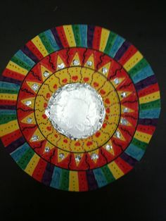 Multicultural art lesson- Mexican folk mirrors with card and aluminum