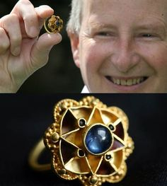 Amateur with metal detector finds A 1,600 YO Royal Sapphire Ring