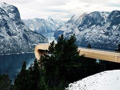Aurland Viewing Bridge in Noorwegen