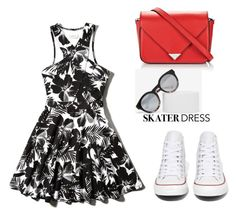 """""""Summer Style: Cutout Skater Dress"""" by tania-alves ❤ liked on Polyvore"""