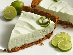 A refreshing Key lime pie gets the benefit of high fiber when the crust is made with Fiber One original bran cereal. It's delicious!
