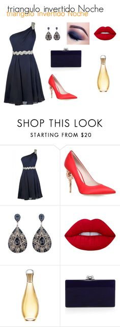 """""""Triangulo Invertido Noche"""" by nan29 on Polyvore featuring moda, RALPH & RUSSO, Lime Crime, Christian Dior y Edie Parker"""