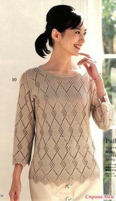Lace Knitting Patterns, Knitting Designs, Knitwear Fashion, Sweater Fashion, Handgestrickte Pullover, Crochet Jacket, Sweater Design, Crochet Clothes, Pulls