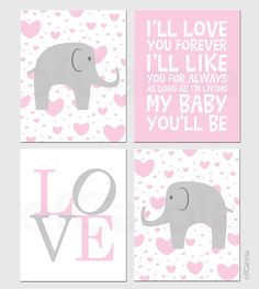 Baby Girl Nursery Hearts PERSONALIZE Wall Art Print by ofCarola, $50.00