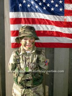 Army Birthday Party (invite idea is great) - or great backdrop for photo ops with kids at the party,