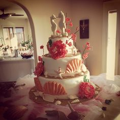 Sea shell cake in Dana Point. This cake was originally designed by the Cake Boss.