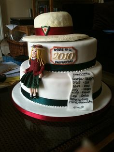 School leaving cake by Curly Cakes, via Flickr