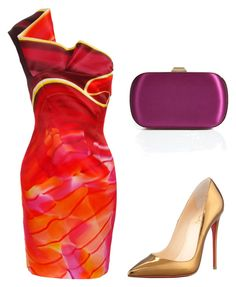 """""""Untitled #4294"""" by ania18018970 on Polyvore featuring Christian Louboutin, Mary Katrantzou and Emilio Pucci"""
