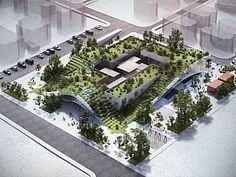 Museum Architecture, Green Architecture, Concept Architecture, Futuristic Architecture, Sustainable Architecture, Architecture Design, Landscape And Urbanism, Urban Landscape, Landscape Design