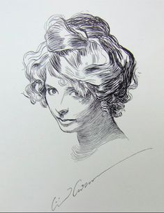 Charles Dana Gibson shows that even a rather homely girl looks pretty with the Gibson Girl updo!