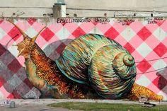 snail graffiti martin ron murales buenos aires street art buenosairesstreet... BA Street Art Tours