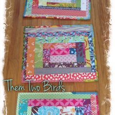 Quilted placemats from Late Night Thread