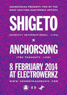 Shigeto x Anchorsong | Electrowerkz | London | https://beatguide.me/london/event/electrowerkz-shigeto-anchorsong-20140208