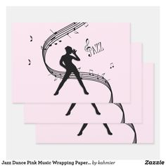 Jazz Dance Pink Music Wrapping Paper Sheets Pink Music, Dance All Day, Jazz Dance, Print Wrap, Creative Gifts, Party Favors, Decoupage, Craft Projects, Wraps