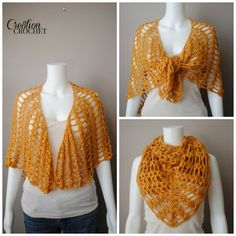 Sunflower, rust, gold, saffron... all shades of yellow are trending this upcoming Fall season. The Saffron Sweet Shawl will fit the bill for any wardrobe. Of course you can make it in any color you want, but doesn't it look great in Saffron?  Free fashion crochet pattern, can be worn as a wrap, shawl or scarf. http://cre8tioncrochet.com/2014/08/saffron-sweet-shawl/