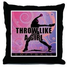 2011 Softball 8 Throw Pillow