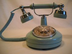 Vintage Rotary Phone Celebrity Mint Green by SeaPillowTreasures