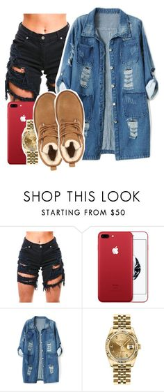 """."" by asvptay ❤ liked on Polyvore featuring Chicnova Fashion, Rolex and UGG"