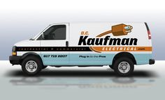 Truck wrap and branding design for electrical contractor in Massachussetts.