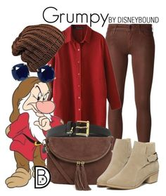 """""""Grumpy"""" by leslieakay ❤ liked on Polyvore featuring Koral, 7 For All Mankind, Lauren Ralph Lauren, Warehouse, Kate Spade, disney, disneybound and disneycharacter"""