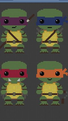 Teenage Mutant Ninja Turtles TMNT Pattern by SnowFallonSea