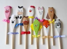 Our adorable wooden puppets are fashioned from wooden spoons measuring approximately 10 long and are sure to spark your childs imagination as they Easter Crafts, Diy And Crafts, Christmas Crafts, Crafts For Kids, Wooden Spoon Crafts, Wooden Spoons, Painted Spoons, Spoon Art, Puppet Crafts