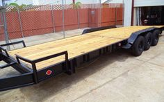TRAILER Car Equipment 30ft 26ft 3 Axles Flatbed Utility Hauler Auto Cargo