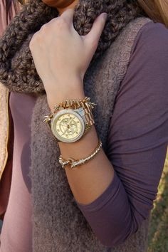 watch is adorbs! and the other bracelets are from Stella & Dot!!! Have them both! :)