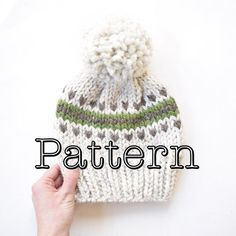 Knitting PATTERN Fair Isle Knitted Hat by CountryPineDesigns