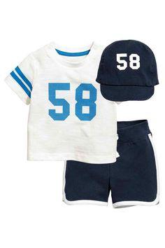 3-piece jersey set - Dark blue - Kids | H&M CA 1