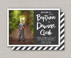 LDS Baptism Invitation Dawson by announcingyou on Etsy Baptism Program, Baptism Invitations, Invitation Ideas, Invites, Lds, Party Time, Color Schemes, Digital, Baptism Ideas